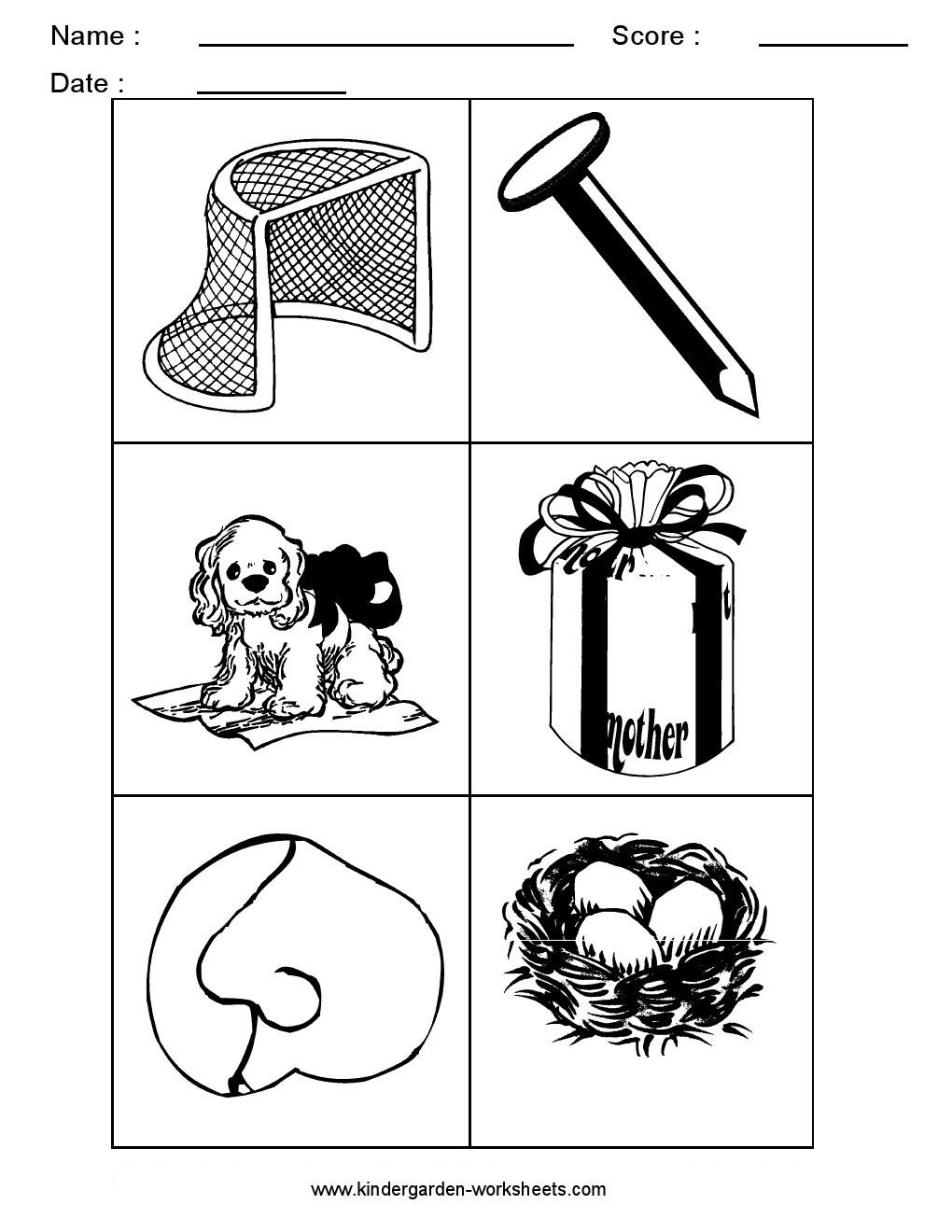 Kindergarten Worksheets: Alphabet Picture Cards - Alphabet ...