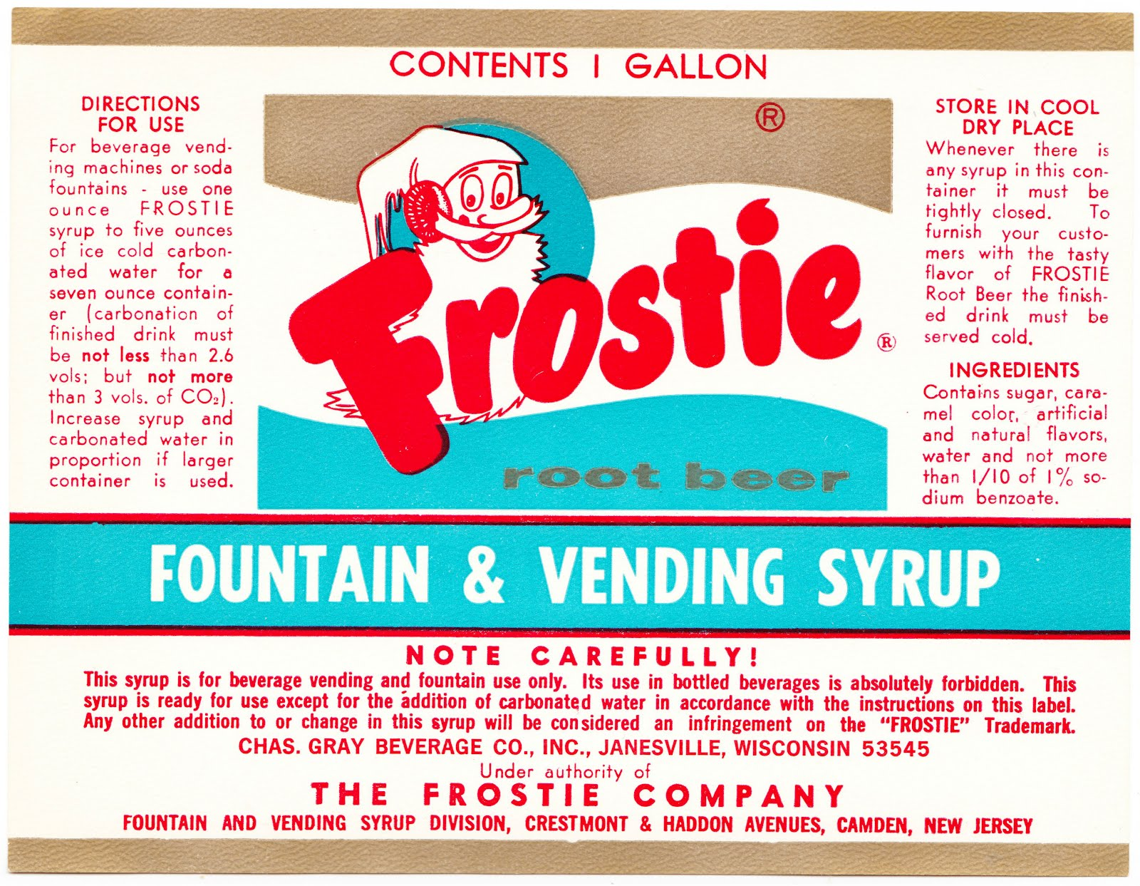 Papergreat A Label For Frostie Root Beer A Jailhouse Born Beverage