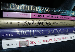 The Winter-Spring reading bookstack.
