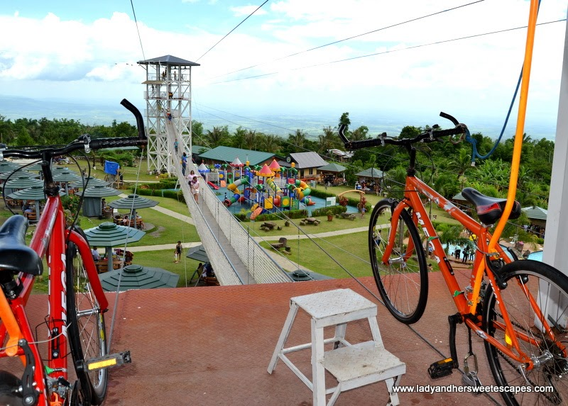sky bicycle at Campuestohan Highland Resort