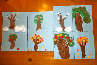 fall crafts for kids: the seasons of an apple tree