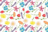 The Little Flowers Monogram Pattern by Haidi Shabrina