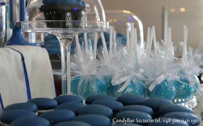 Candy Bar niebieski (cakepopsy)