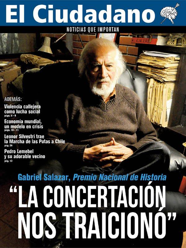 """GBI:Gabriel Salazar: """"La Concertación nos traicionó"""" - Miércoles, 28 de Septiembre de 2011 12:10 Le"""