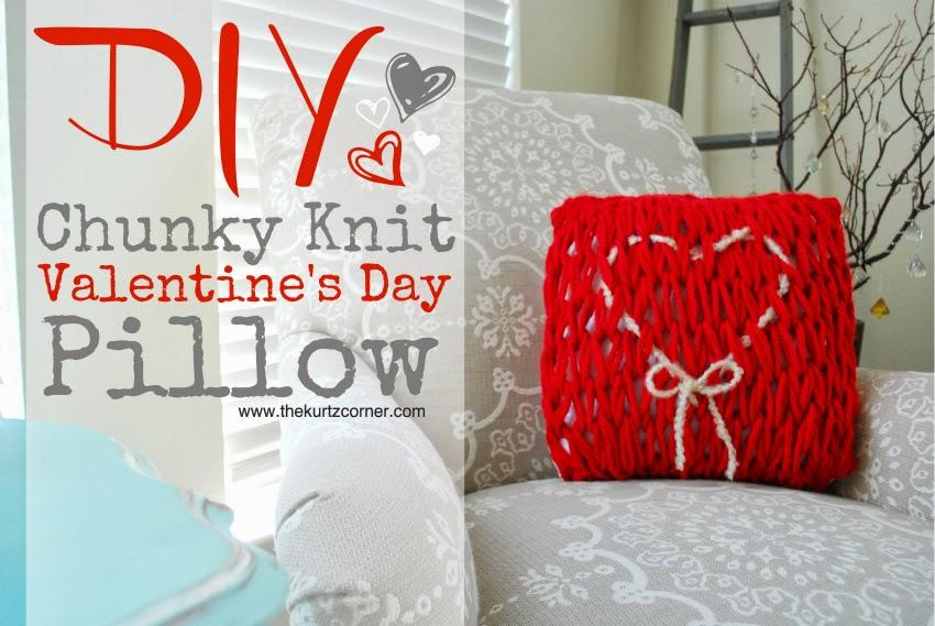 The Kurtz Corner Diy Arm Knit Valentine S Day Pillow