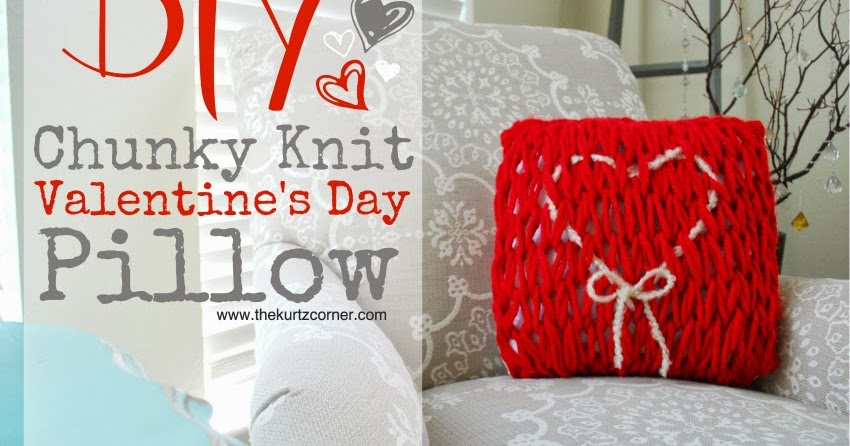 The Kurtz Corner Diy Arm Knit Valentine S Day Pillow