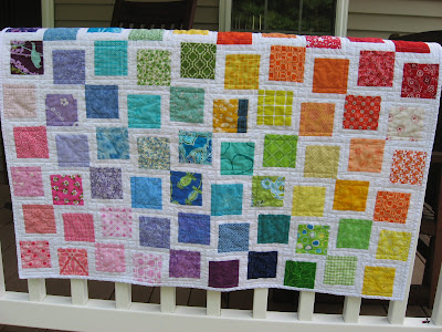 Rainbow Quilt ~ Finished!