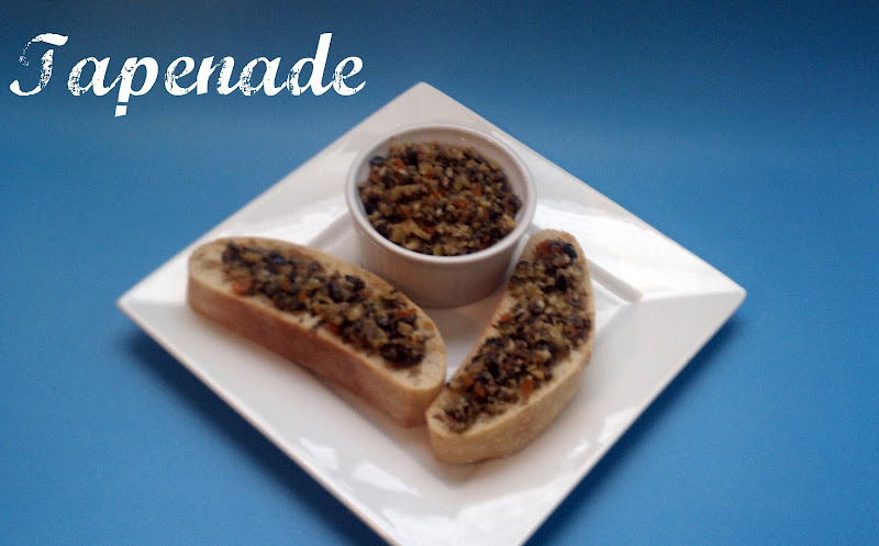 tapenade, olives, spreads, bread, ciabatta, garlic