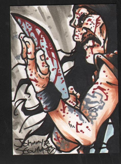 Machete Sketch Card por Auronasia