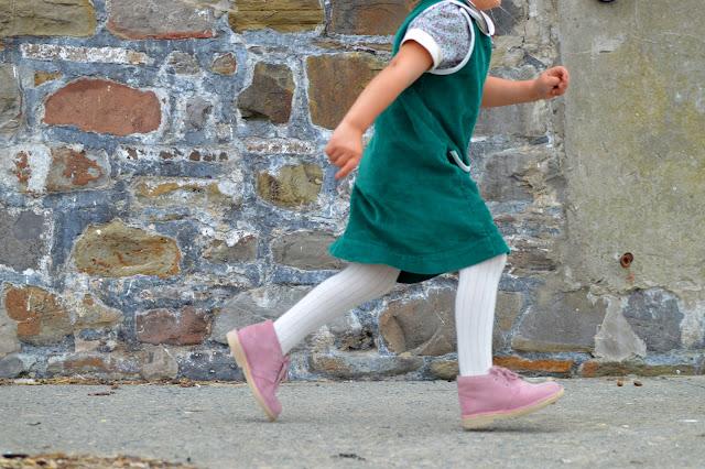 Girl runs