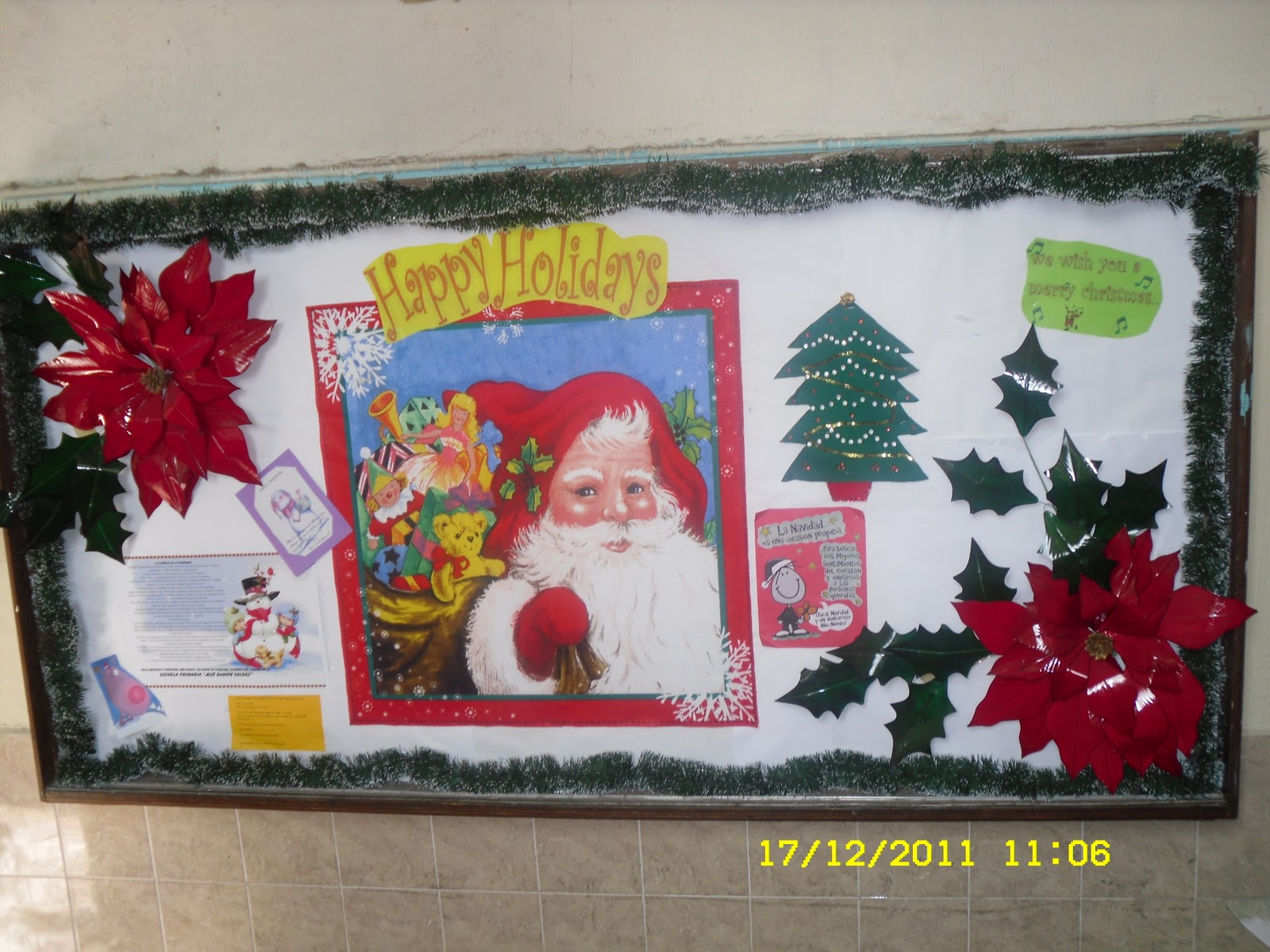 Escuela primaria jos ram n valdez peri dico mural for Mural navideno