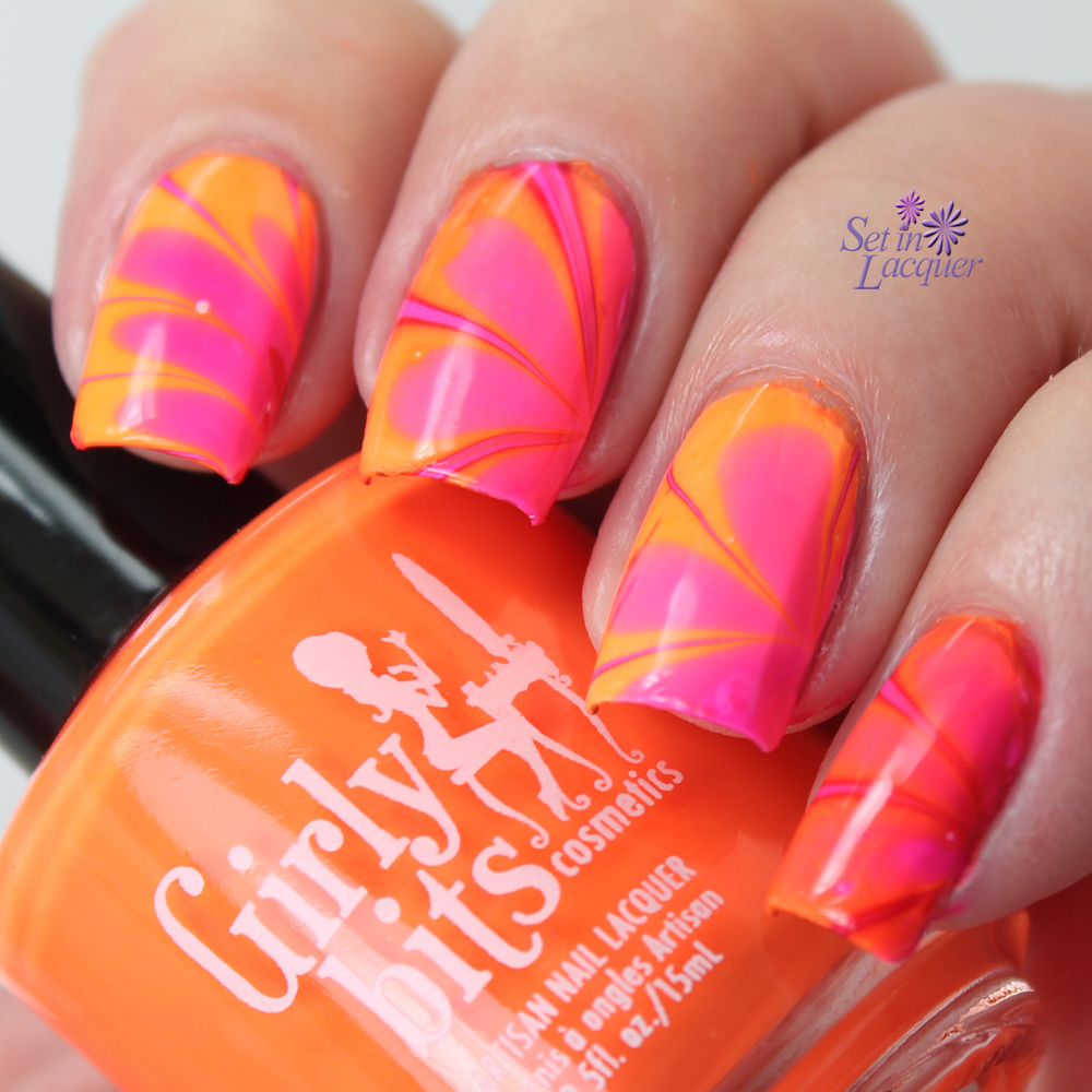Girly Bits Hoop! There It Is water marble