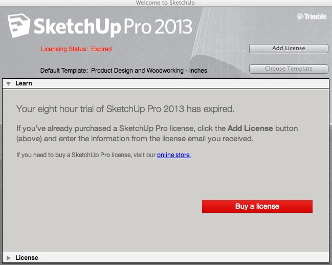 Image gallery sketchup 2013 license for Sketchup 2013