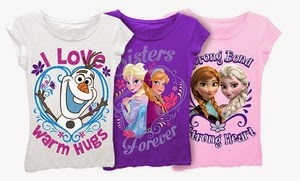 Sisters Anna and Elsa decorate these 100% cotton tees