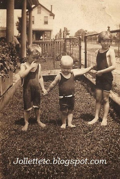 Lanier Wade, Orvin Davis Jr., Louise Wade 1927 Shenandoah, VA   http://jollettetc.blogspot.com