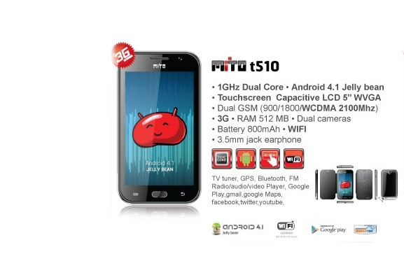 Mito t510 Android 4.1 Jelly Bean