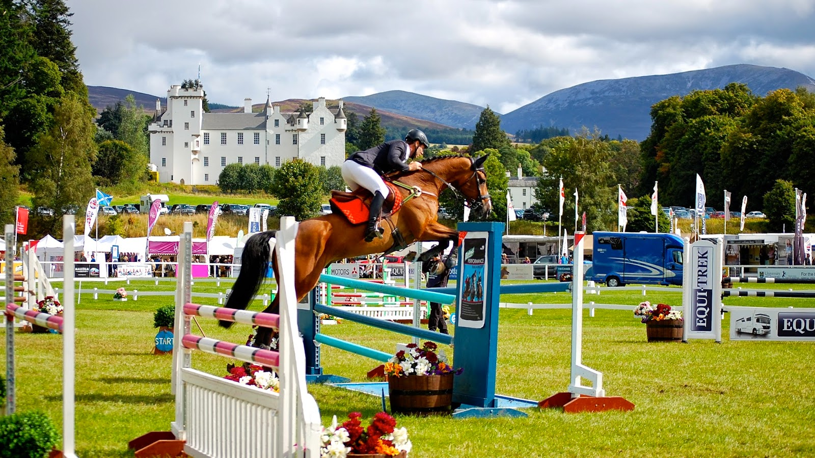 Blair Castle as backdrop for International Horse Trials