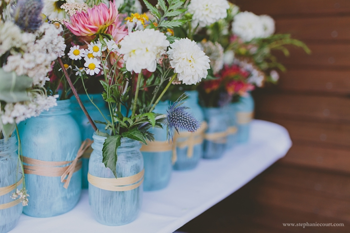 """handpainted mason jar centerpieces"""