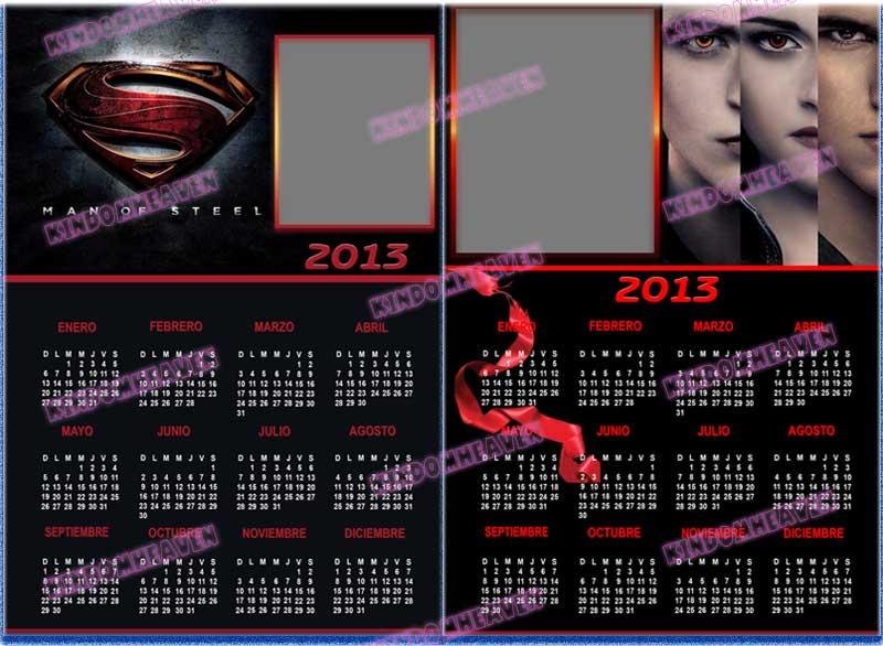 calendarios 2013 psd para imprimir supermar twilight amanecer crepusculo