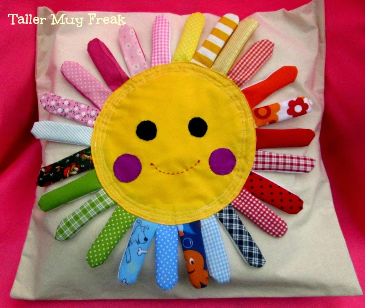 Cojin sol rayos coloridos Taller Muy Freak