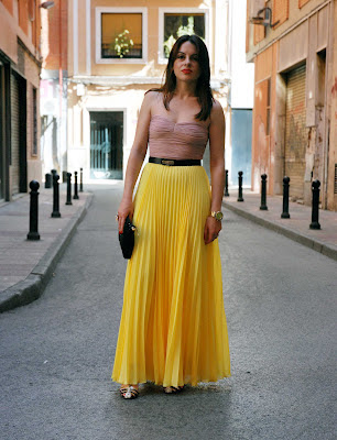 Yellow Pleated Skirt 4