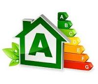 Etiqueta certificado eficiencia energética edificios.