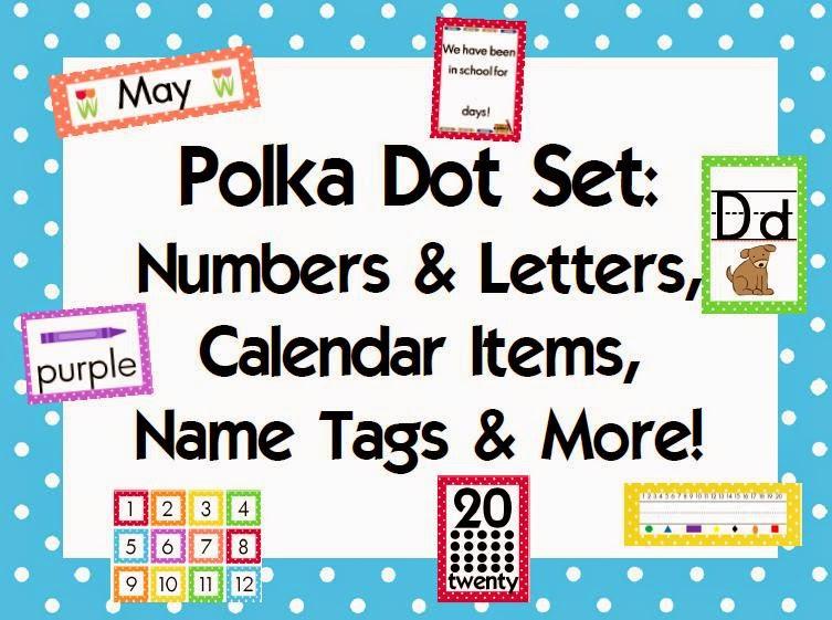 http://www.teacherspayteachers.com/Product/Polka-Dot-Classroom-Combo-Pack-303557