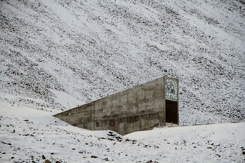 The entrance portal is the only visible part of the facility. - I Had No Idea This Vault Hidden Deep In The Mountains Even Existed. Let Alone What's Inside.