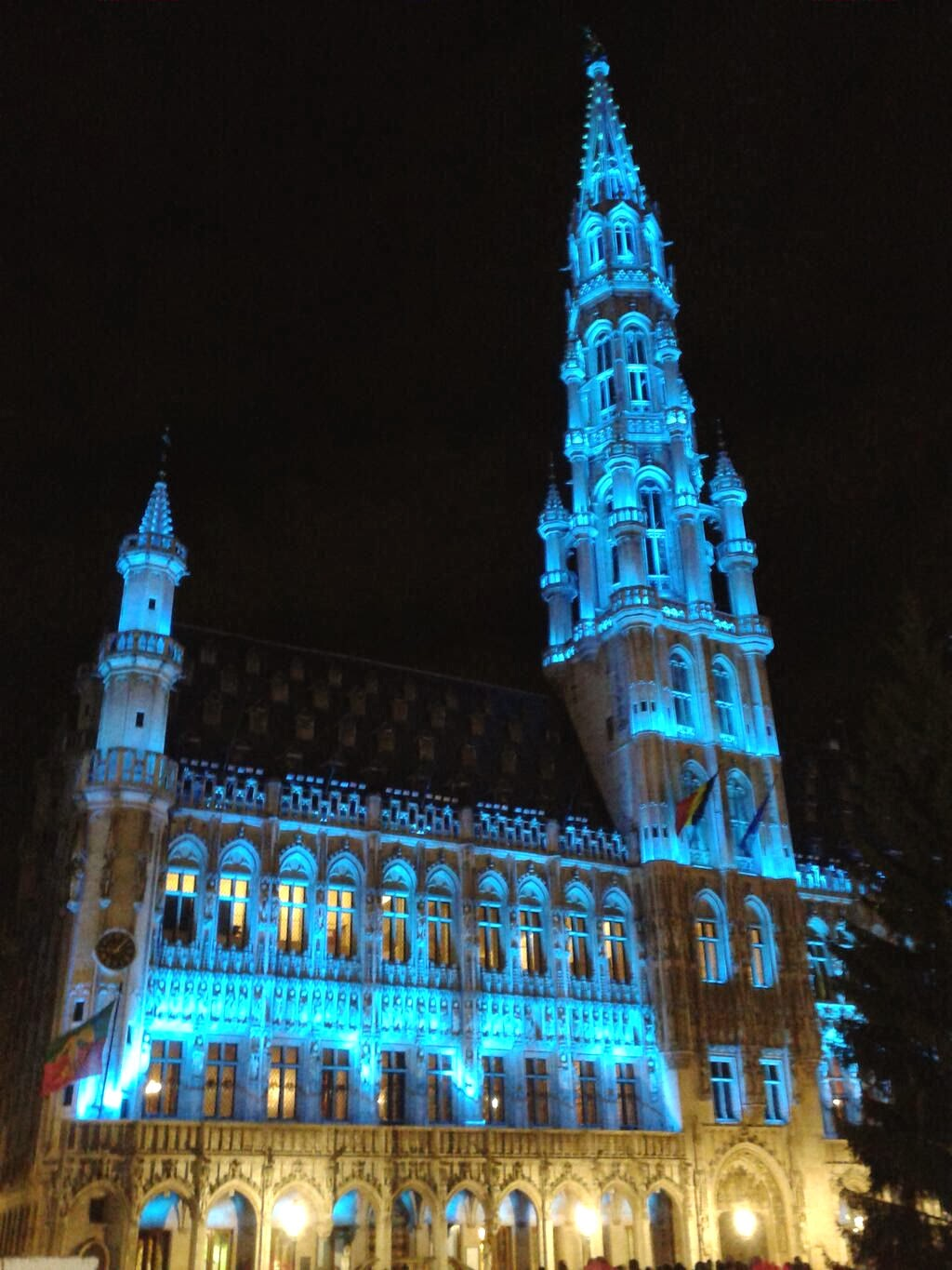Brussels Town Hall in the city's Grand Place rises 315 feet into the air and is topped off by a 12-foot statue of Saint Michael slaying a demon. Photo: Valy Dumoulin.