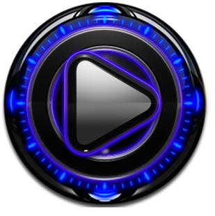 Blue Glow Magic Poweramp Skin v1.40