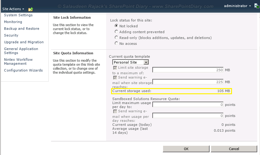 sharepoint 2010 quota template powershell