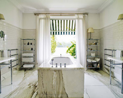 the luxury bathroom with a view, promoting the natural and green house