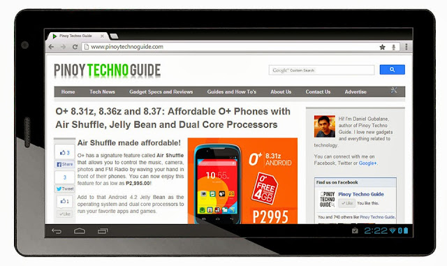 O+ Fab 3G Tablet