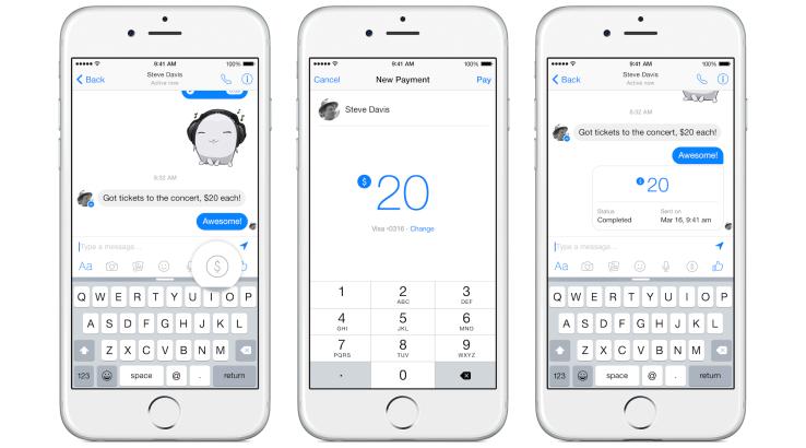 Facebook presenta pagos entre amigos mediante mensajes