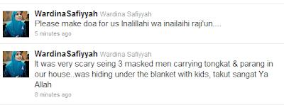 wardina saffiyah suami di rompak 3 pencuri indon