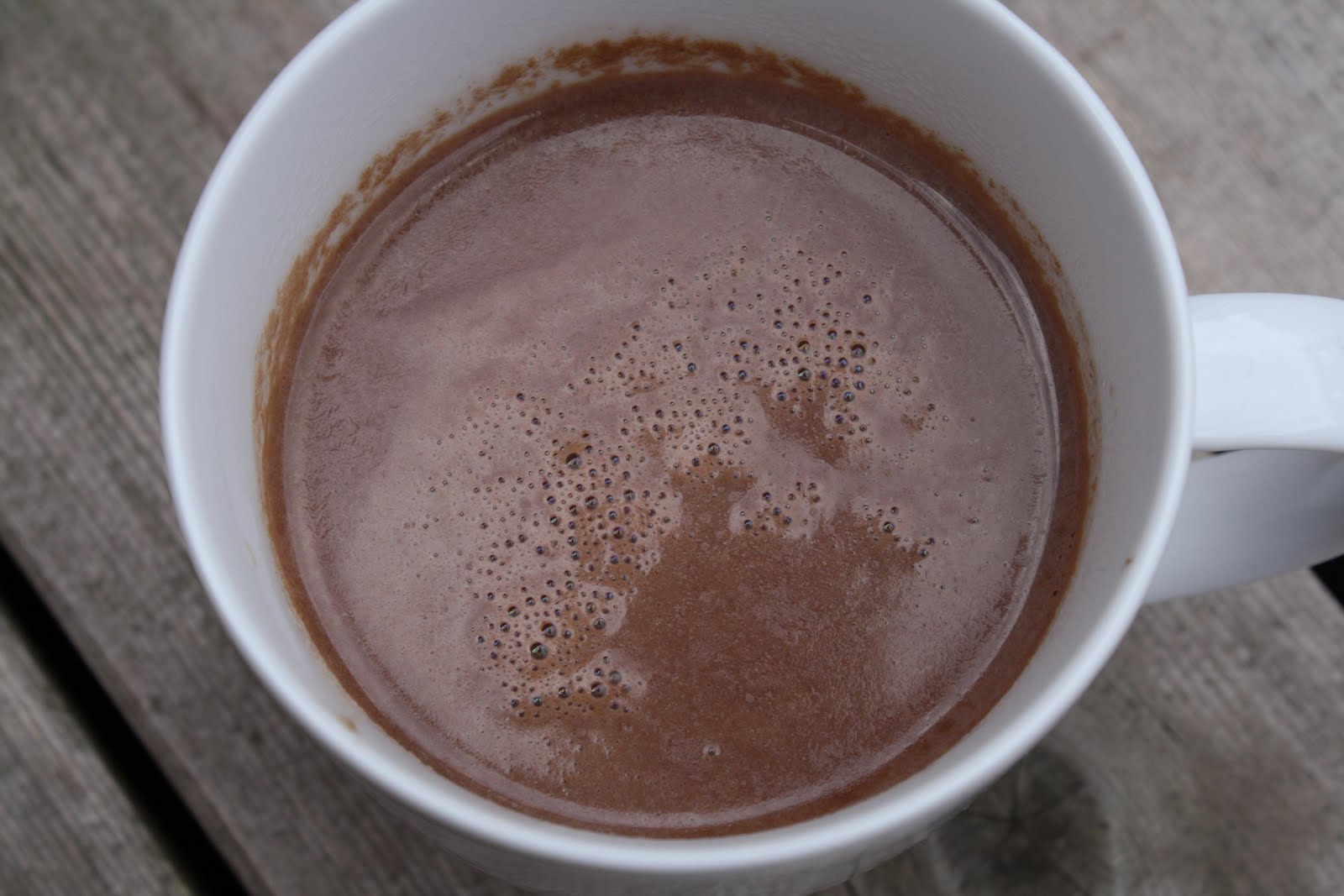 ... sprinkling of cinnamon and you have yourself a perfect hot chocolate