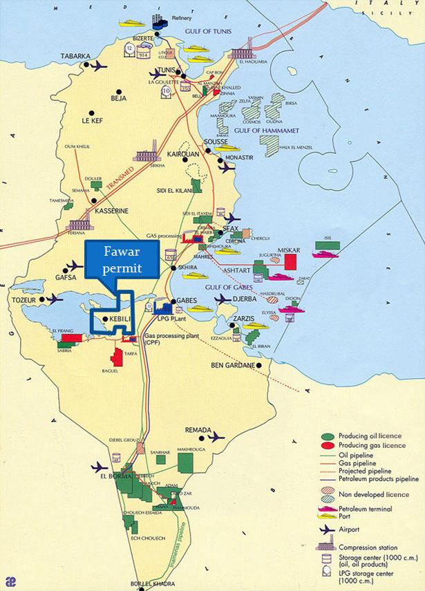 arthur zbygniew tunisia petroleum infrastructure map