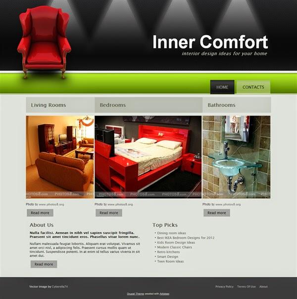 Inner Comfort - Free Drupal Theme