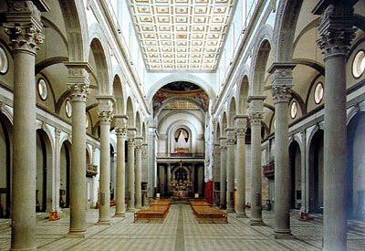 M s clases de arte brunelleschi iglesia de san lorenzo for Interior iglesia san lorenzo brunelleschi