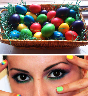 Rainbow makeup, Colourful look