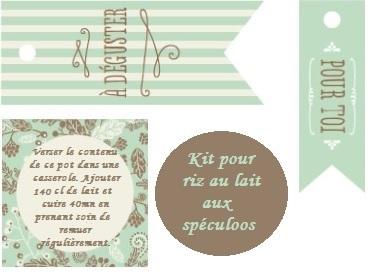 Fabulous Papilles On/Off: Kit SOS riz au lait aux spéculoos - Cadeau  MJ59