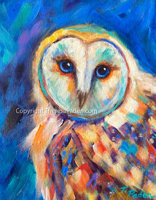 Colorful owl canvas  Etsy