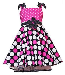 Pink Polka  Dress on Style Or Fashion World   White Pink And Black Polka Dot Dress