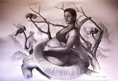 mujer-serpiente-dibujo