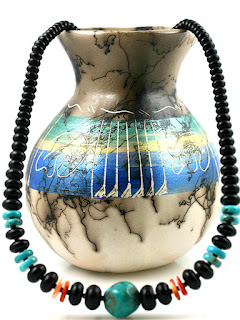 Black Onyx & Turquoise Necklace, Necklace