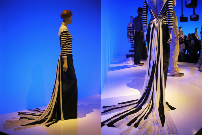 Jean Paul Gaultier Navy Striped Top Train Kunsthal