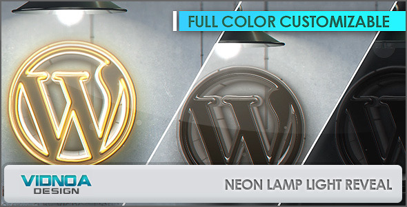 VideoHive Neon Lamp Light Reveal