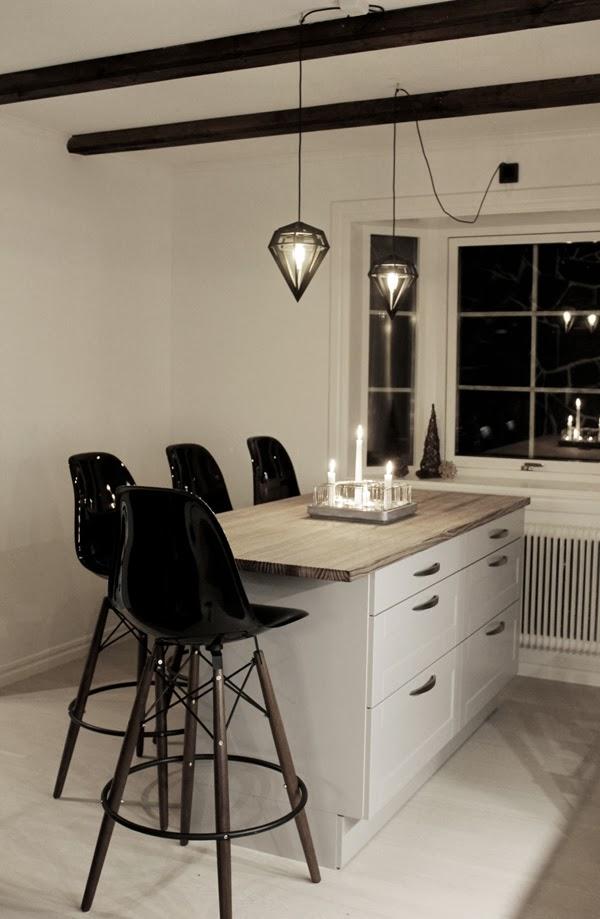 Lampor Koket : lampor  bild po koket efter renovering, kok 2013, dodens lampor