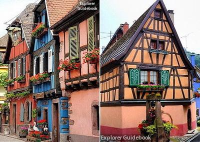 Tempat wisata terkenal di Perancis Niedermorschwihr beautiful village in france