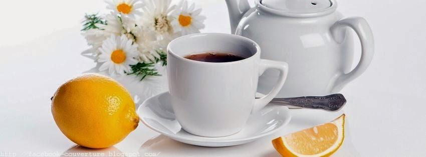 Couverture facebook HD une tasse de thé